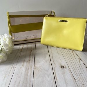 Gucci 2 in 1 clear & yellow clutch bag